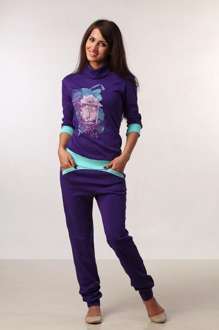 картинка Блузон и брюки фиолетовые