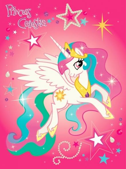 картинка Плед флисовый «Пони Селеста»