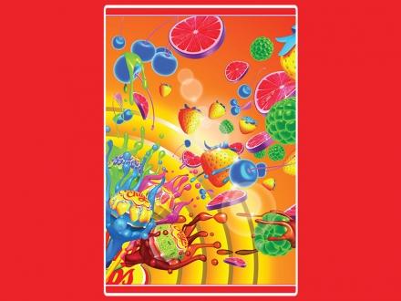 картинка Полотенце «Chupa-Chups: ягодный взрыв»