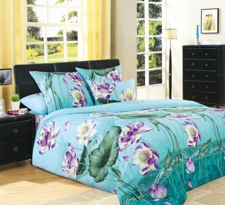 Изображение КПБ «Цветок лотоса (голубой)»