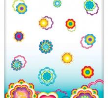 Изображение КПБ «Chupa-Chups: цветы на бирюзе»