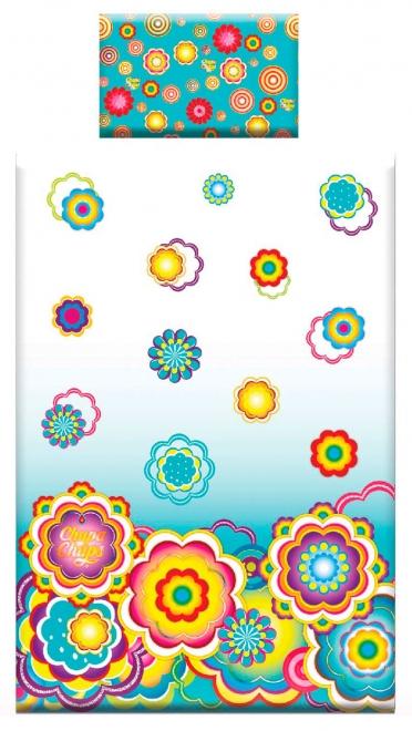 картинка КПБ «Chupa-Chups: цветы на бирюзе»