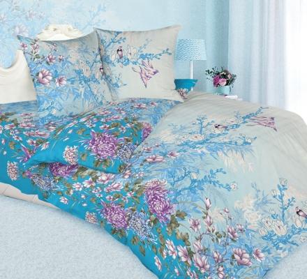 Изображение КПБ «Хризантема (голубой)»