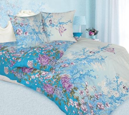 картинка КПБ «Хризантема (голубой)»