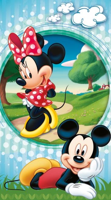 картинка Полотенце «Микки в парке»