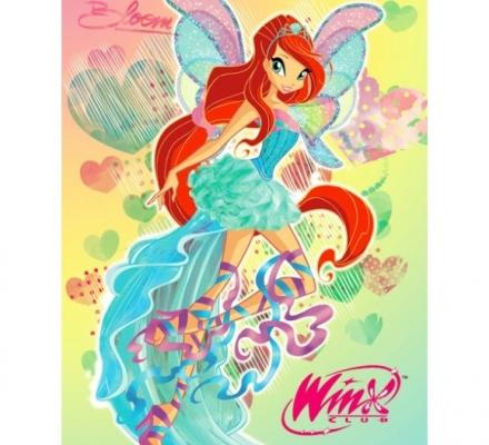 Изображение Плед флисовый «Winx Bloom 2013»