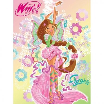 картинка Плед флисовый «Winx Флора»
