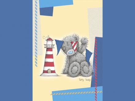 картинка Плед флисовый «Teddy (Sea)»
