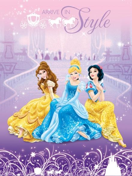 картинка Плед флисовый «Принцессы»