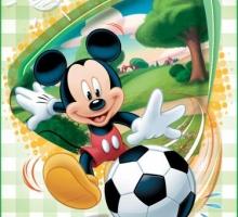 Изображение Плед флисовый «Микки Маус футболист»