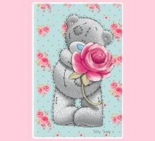 Изображение Полотенце «Teddy с розой»